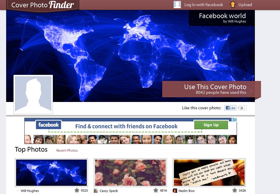 facebook dengan dilengkapi gambar-gambar yang keren, juga bisa